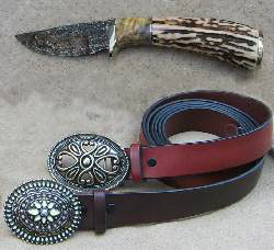 Leather Belts and Custom Knives at Fred Eisen Leather