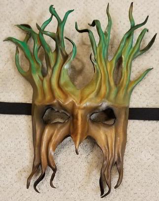 Leather Mask 1801 - Mask $139.