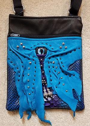 Lyn Lyndall Dragon's Eye Laced Bag